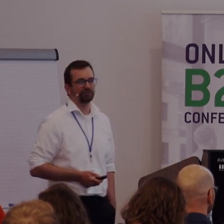 Stefan Pohl auf der B2B Online Marketing Conference